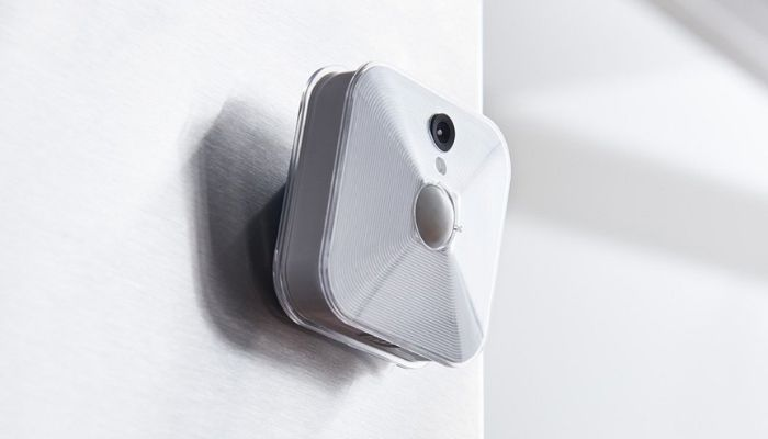 blink indoor camera mounted on wall
