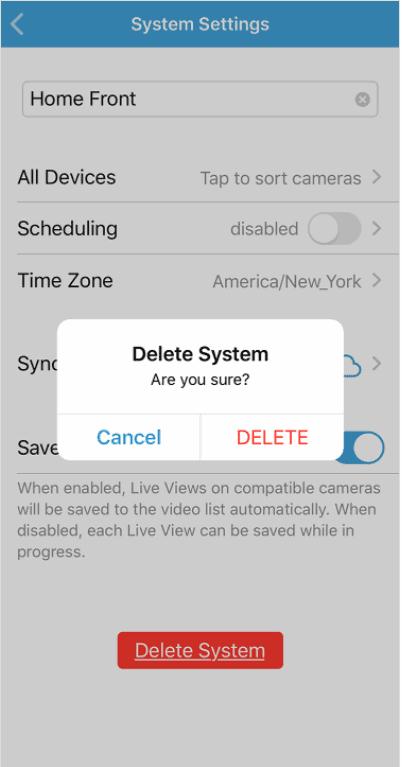 delete blink system