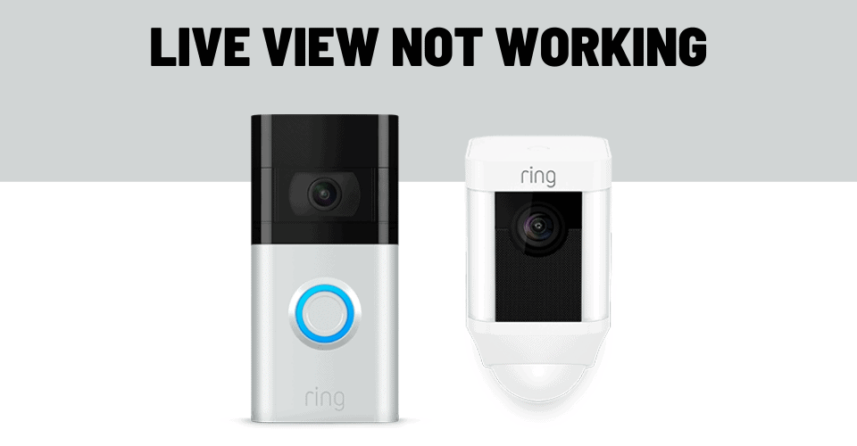 live view not working on ring doorbell and camera