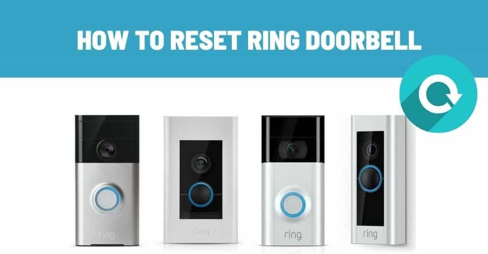 how to reset ring doorbell